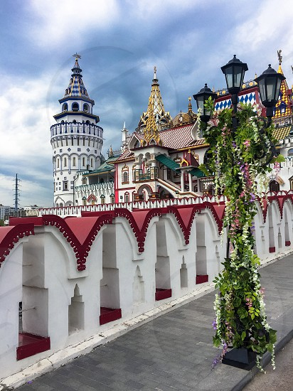 At the entrance to the Izmaylovo Kremlin Russia Moscow photo
