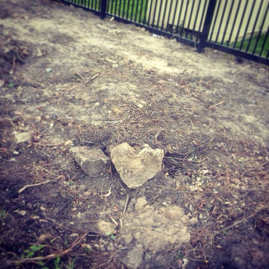Rock of love. Seen outside my previous university in Nottingham. photo
