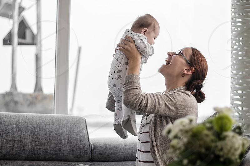 Mum baby fun love photo