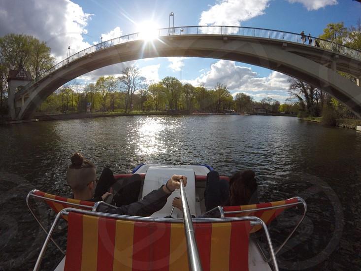 Berlin water sports GoPro Treptow park pedalo summer park photo