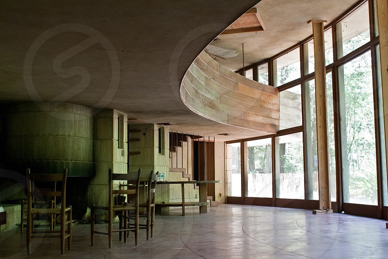 Photo taken in the Frank Lloyd Wright Spring House in Tallahassee. photo