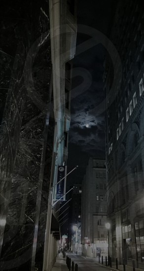 Moon over Gotham alley photo