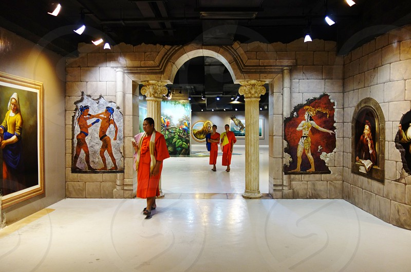 Art in Paradise Museum in Chiang Mai Thailand                                photo
