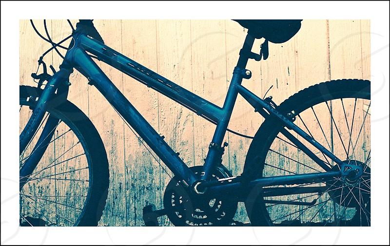 black bicycle  photo