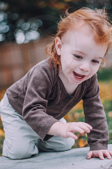 Toddler playful child cute photo