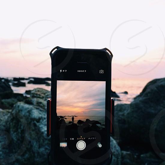 Black apple iphone photo