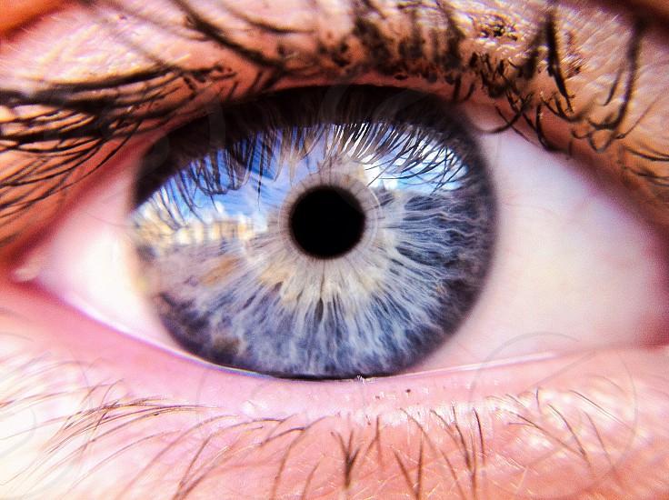 gray human eye macro photography photo