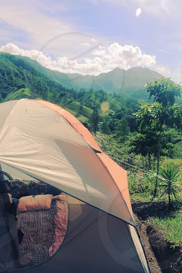 What a great place to pitch a tent- mountains of Guatemala photo