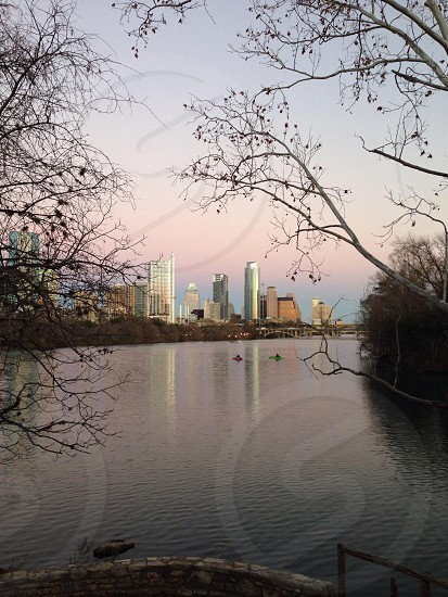 City skyline photo photo