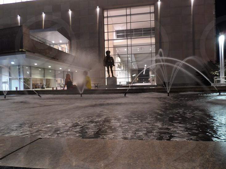 Raleigh convention center fountain  photo