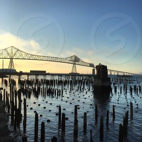 Sunset and the bridge photo