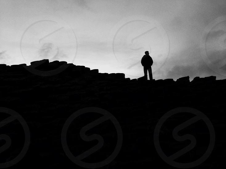 persons silhouette photo