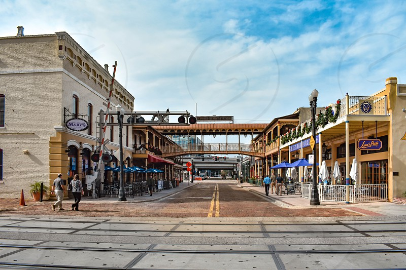 Orlando Florida . December 24 2018. Panoramic view of Church Street Station . For more than 100 years Church Street has been the heart of Downtown Orlando. photo
