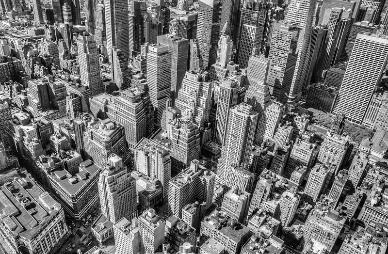 metropolis aerial view  photo