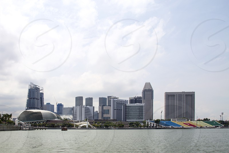view of the Marina bay Singapore photo