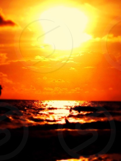 photography of sunset on ocean view photo