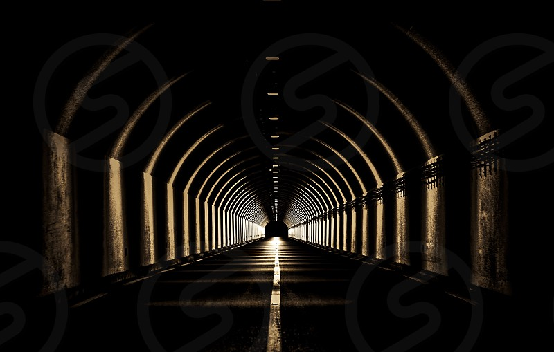 Tunnel point view mood perspective photo