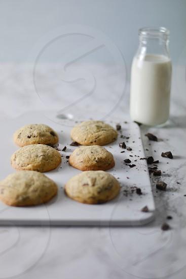 Cookies biscuits milk baking chocolate home baking sweet photo