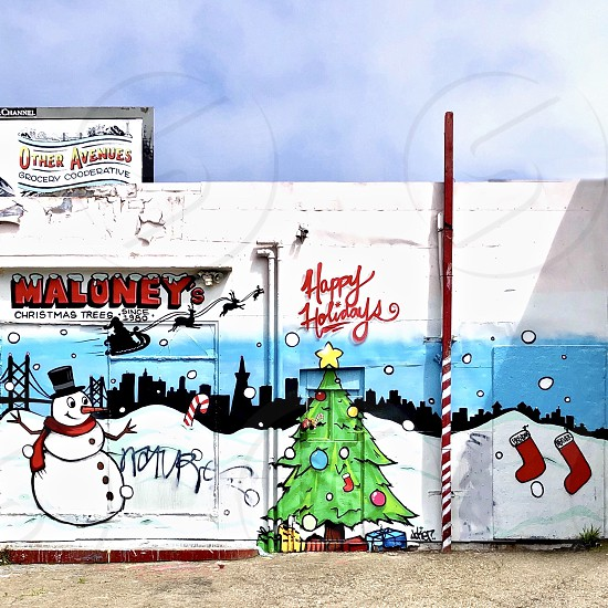 Holiday billboard  photo