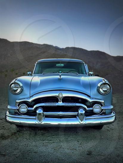 blue vintage car  photo