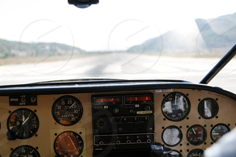 airplane control interior photo