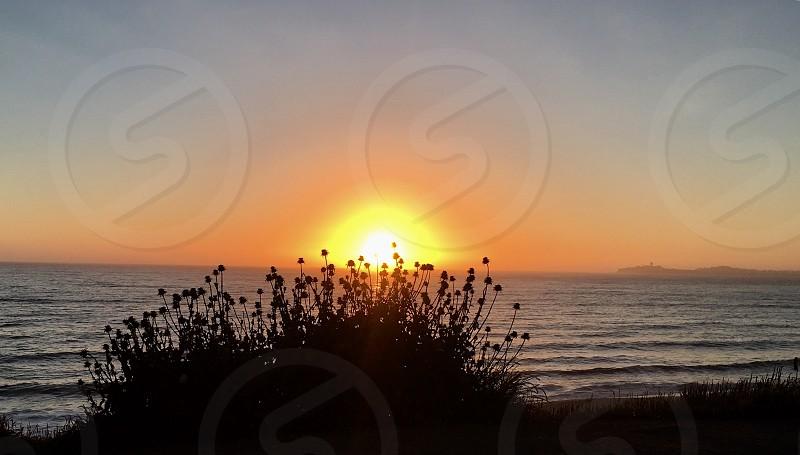 Sunset at Poplar Beach CA photo