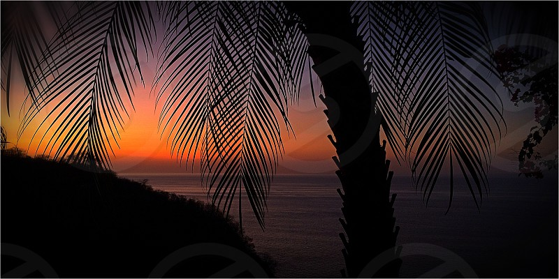 Sunset Playas del Coco Costa Rica photo