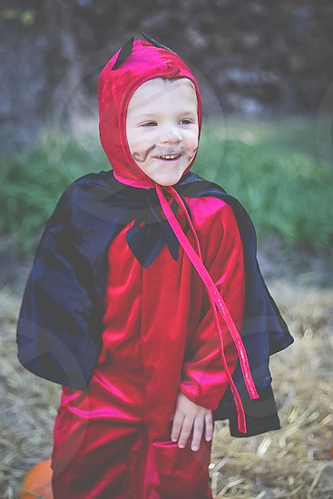 boy toddler devil costume halloween photo