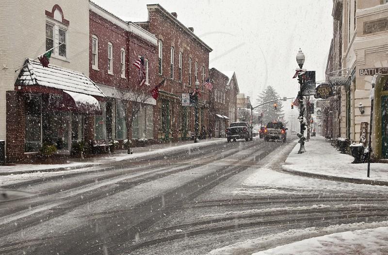 Leading Lines Snow Storm photo