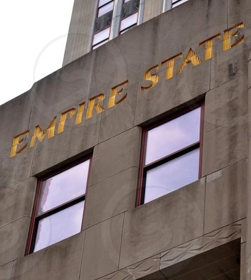 empire state signage photo