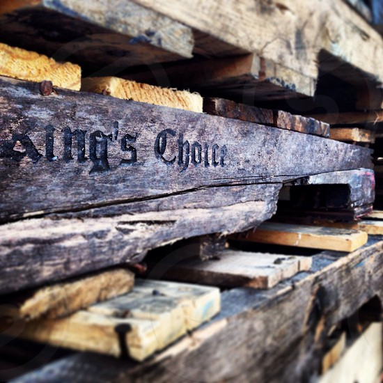 Wooden pallets  photo