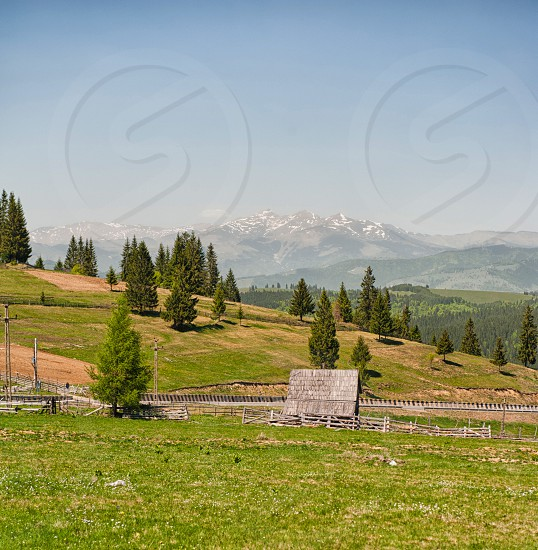 Barn in the mountains photo