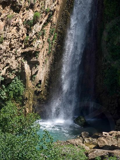 Waterfall below the New Bridge at Ronda Spain photo