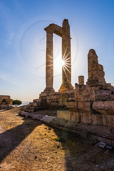 Temple of Hercules at Amman Citadel Jordan photo