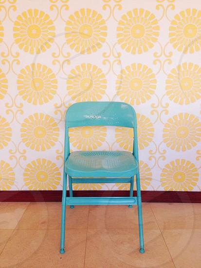 teal chair photo