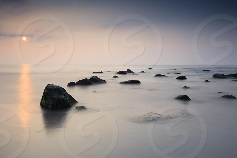 moody seascape along the coast photo