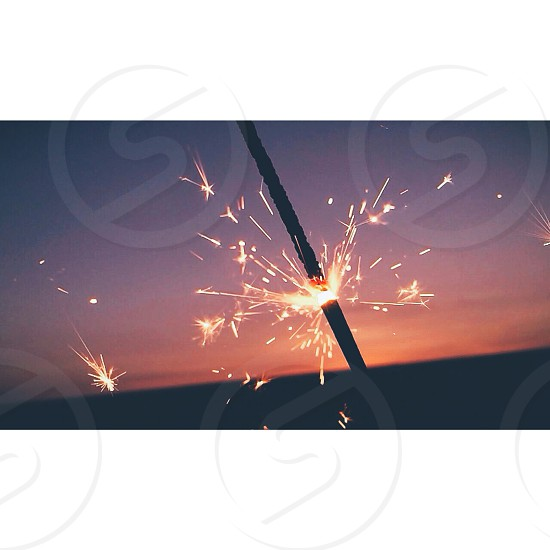 orange fireworks low exposure photography photo