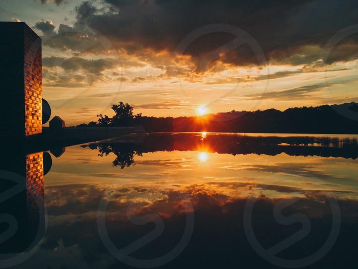 waterfront sunset landscape photo
