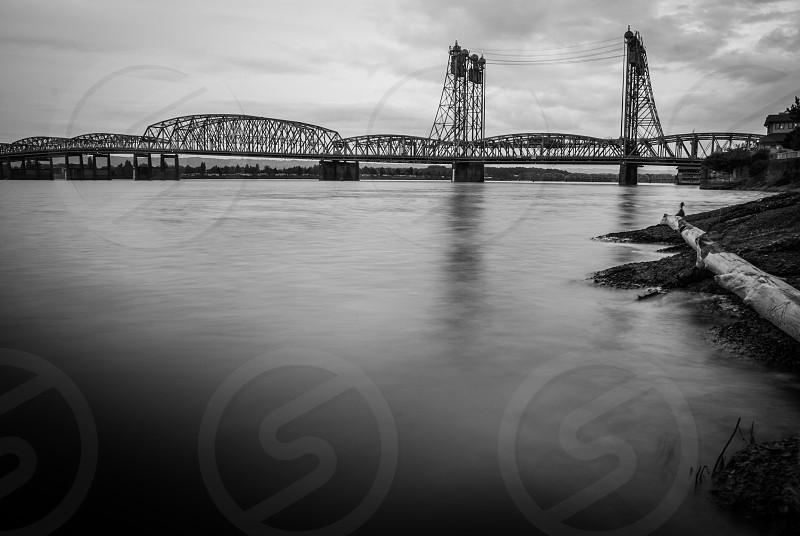 The I-5 Bridge spanning the Columbia River between Portland Oregon and Vancouver Washington. photo