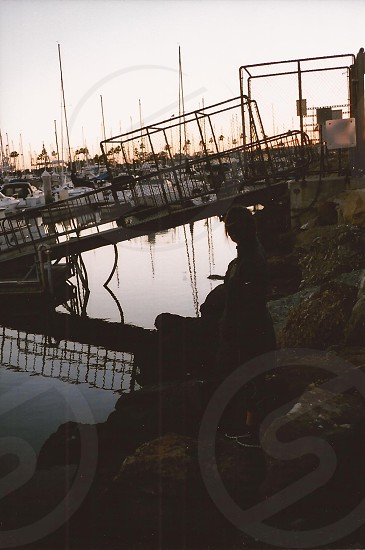 grey metal plank bridge photo