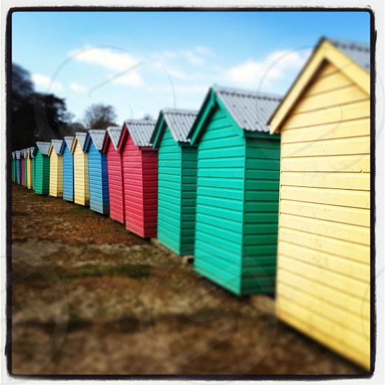 Beach huts in Abersoch photo