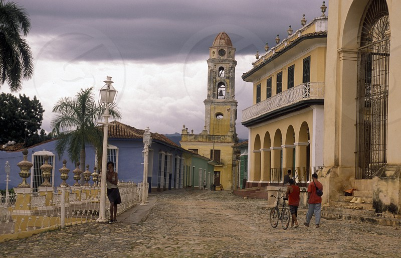the church the old Town of the Village of trinidad on Cuba in the caribbean sea. photo