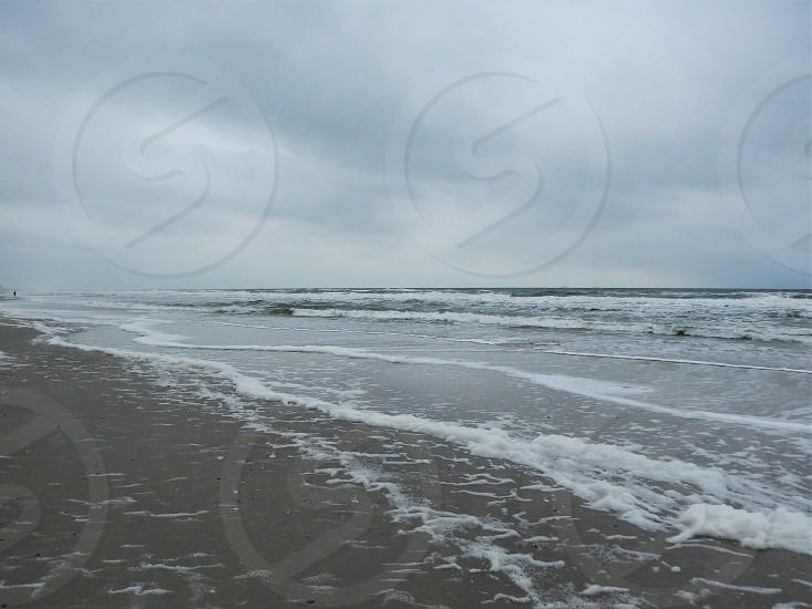 The Coastline of Jacksonville Beach in Jacksonville Florida             photo