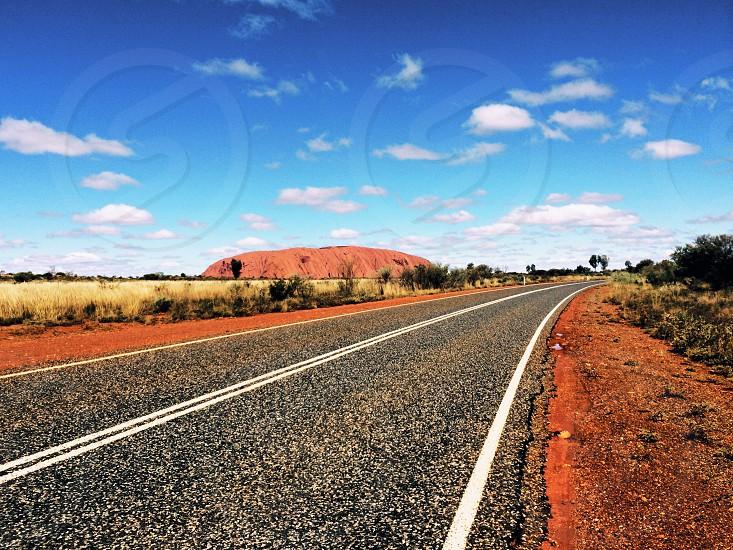 Road through Uluru photo
