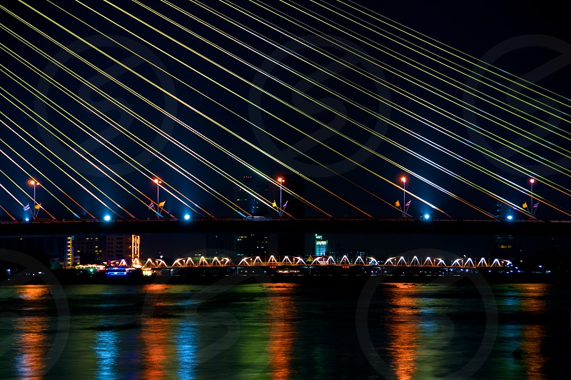 The Rama VIII bridge in Bangkok. photo