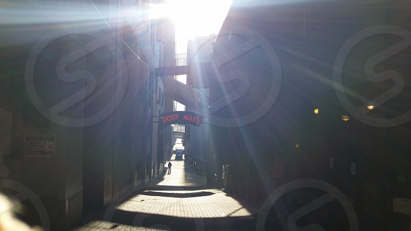 Seattle Post Alley Sun rays photo