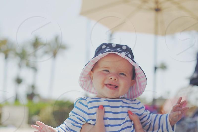 baby smiling photo