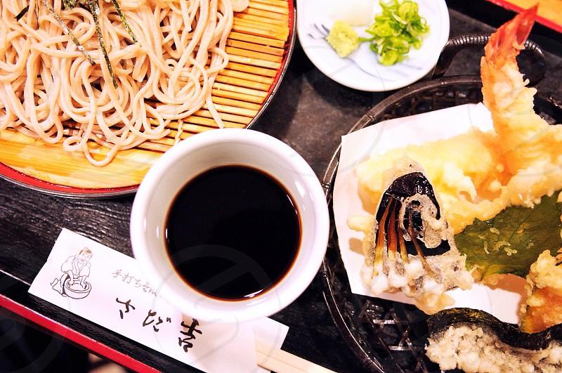 Cold udon noodles & tempura. Gion Kyoto photo