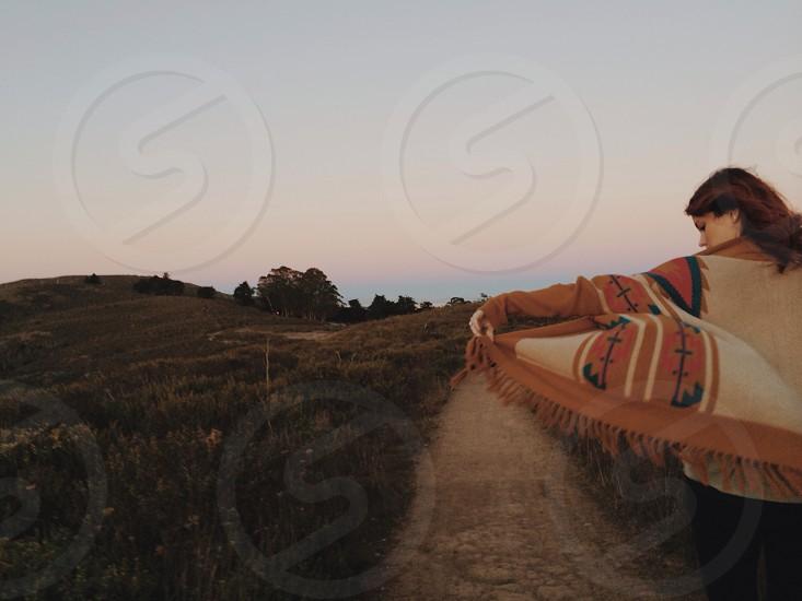 southwest fringe cardigan sweater photo