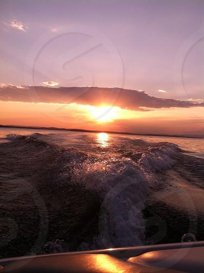 Sunset on Lake Winnipesaukee photo